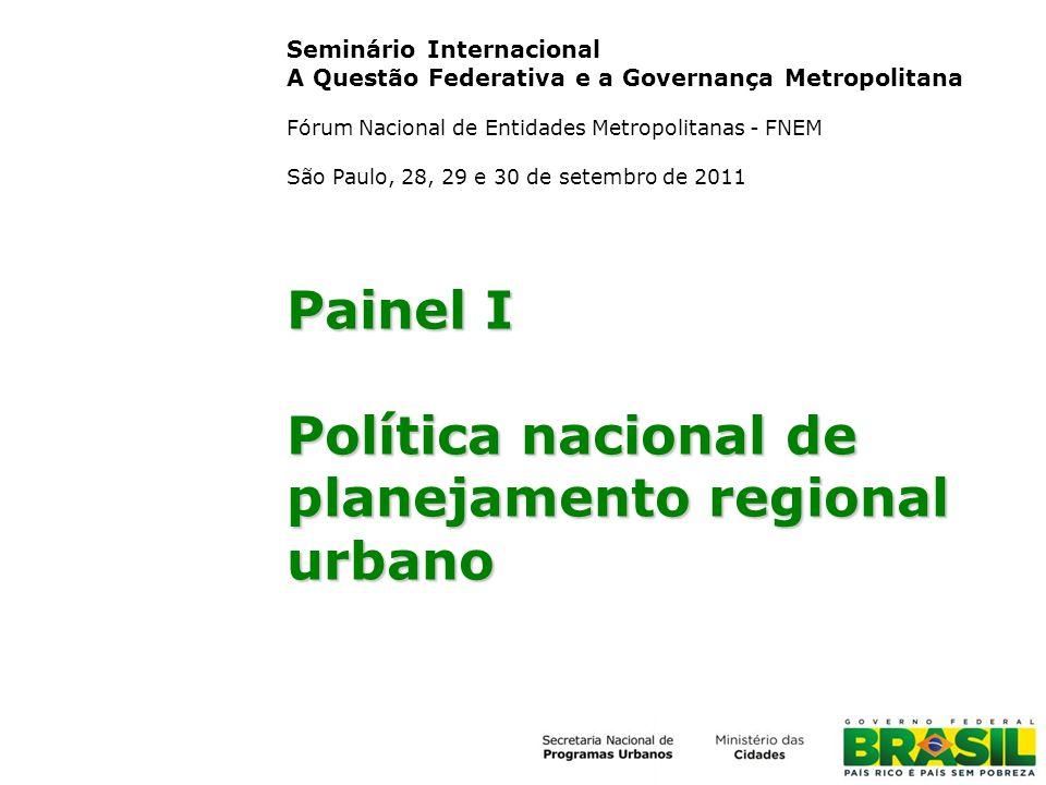 Política nacional de planejamento regional urbano