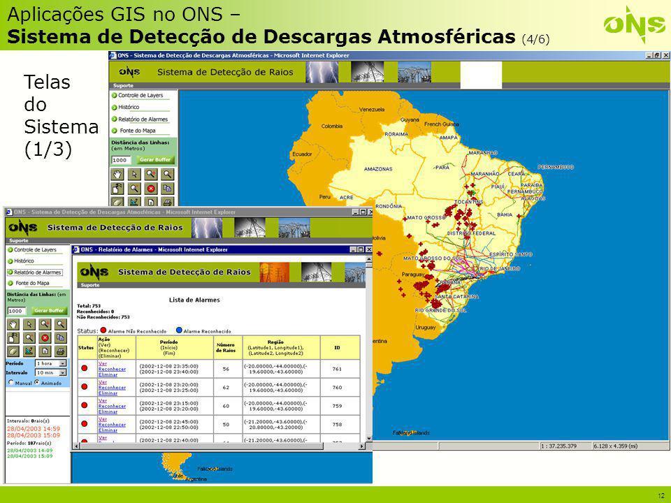 Aplicações GIS no ONS – Sistema de Detecção de Descargas Atmosféricas (4/6)