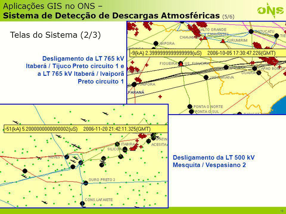 Aplicações GIS no ONS – Sistema de Detecção de Descargas Atmosféricas (5/6)