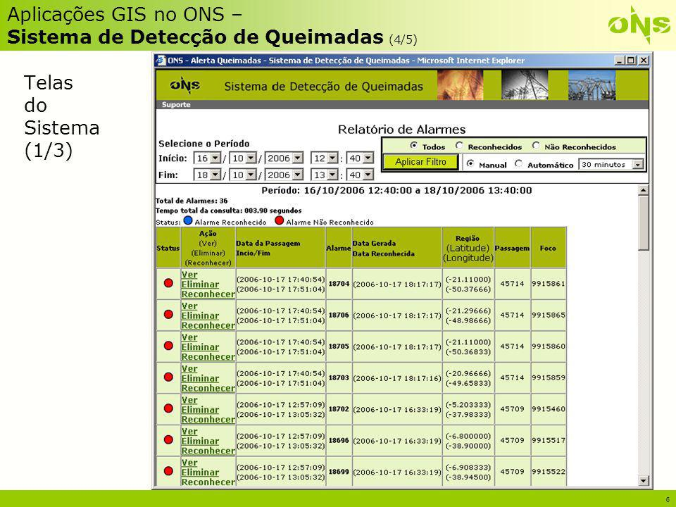 Aplicações GIS no ONS – Sistema de Detecção de Queimadas (4/5)