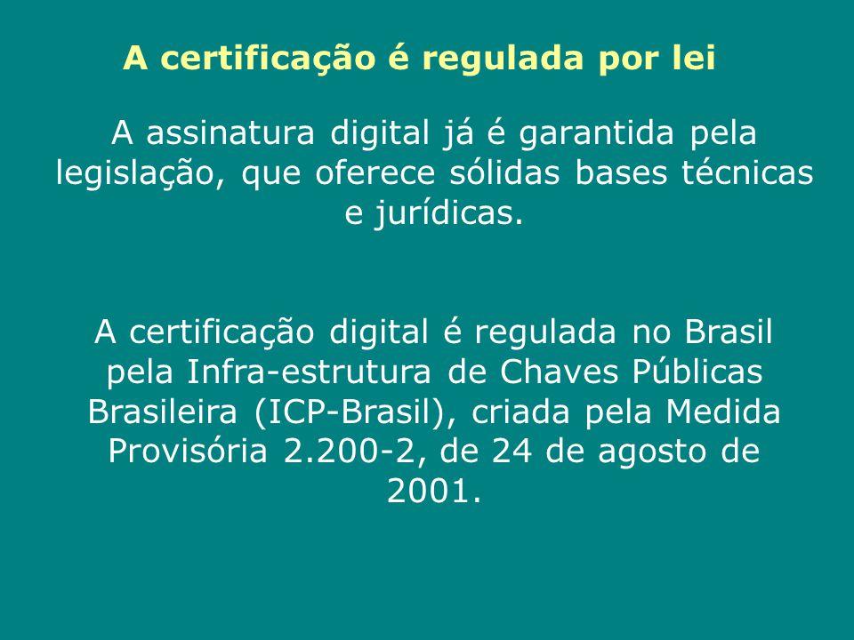A certificação é regulada por lei