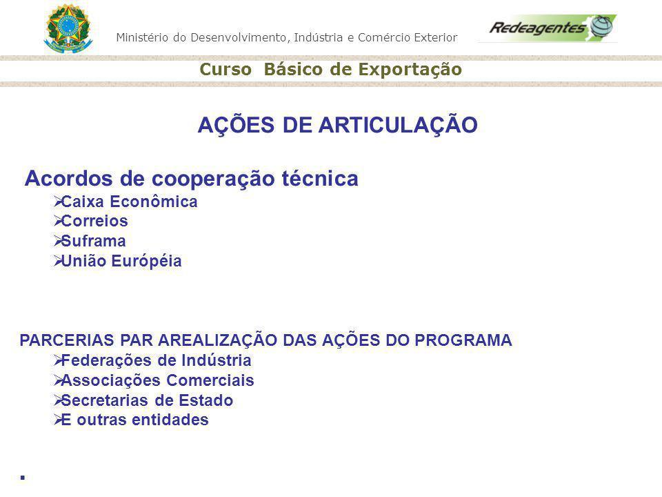 AÇÕES DE ARTICULAÇÃO Acordos de cooperação técnica Caixa Econômica