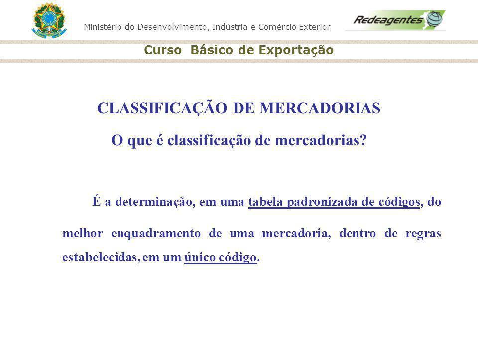 CLASSIFICAÇÃO DE MERCADORIAS O que é classificação de mercadorias