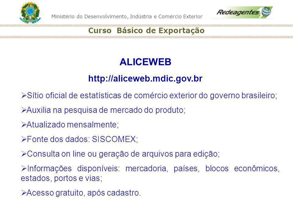 ALICEWEB http://aliceweb.mdic.gov.br