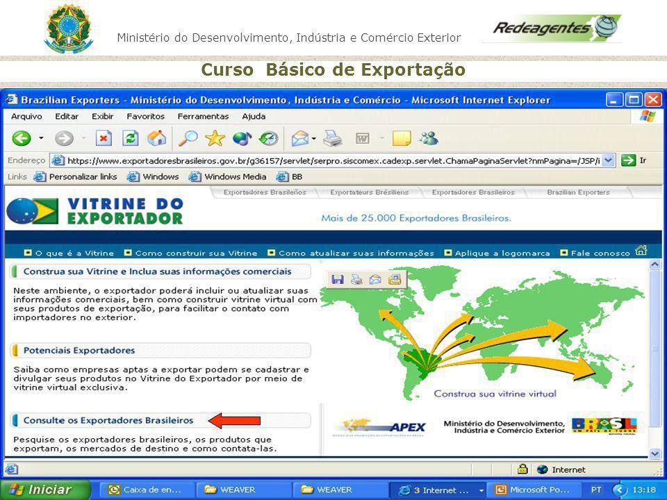 Consulta para identificar empresas exportadoras brasileiras