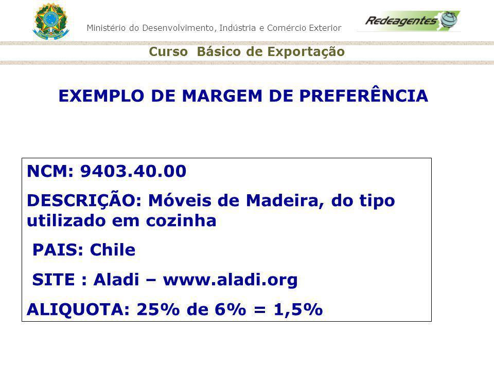 EXEMPLO DE MARGEM DE PREFERÊNCIA