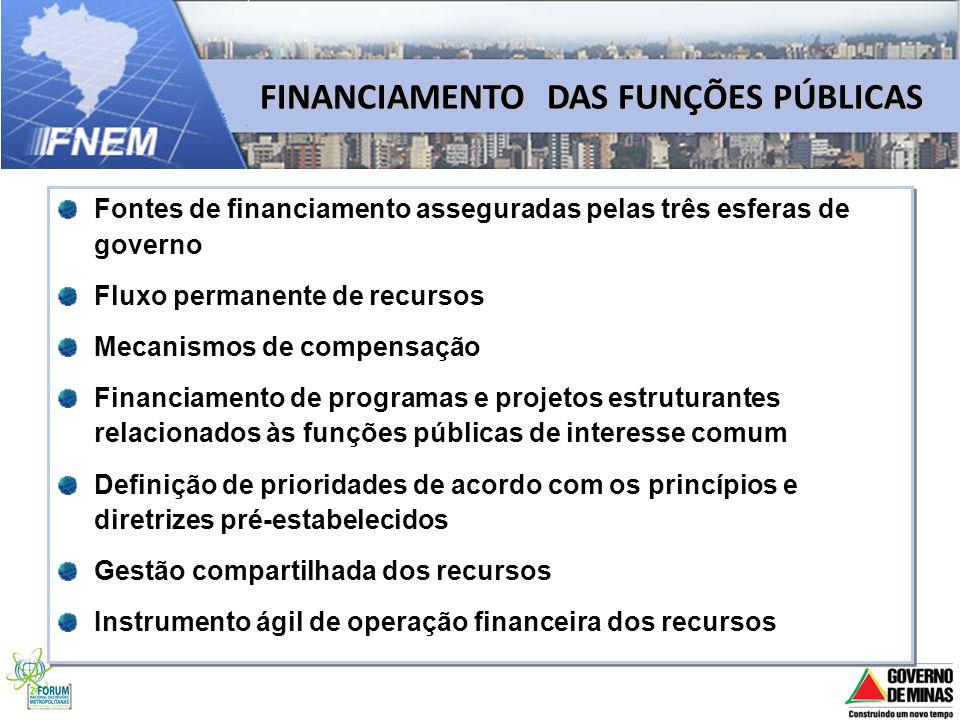 FINANCIAMENTO DAS FUNÇÕES PÚBLICAS