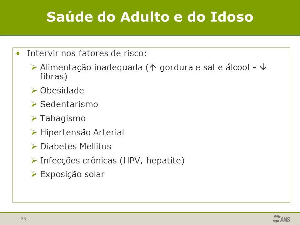 Saúde do Adulto e do Idoso