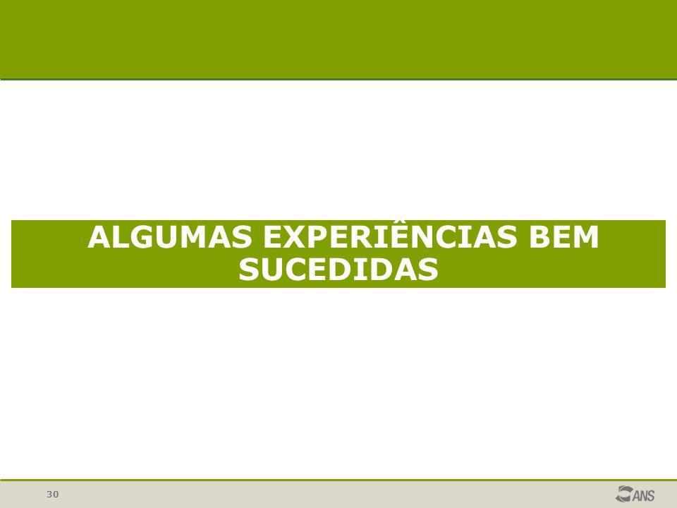 ALGUMAS EXPERIÊNCIAS BEM SUCEDIDAS