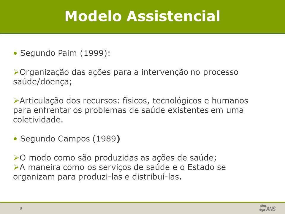 Modelo Assistencial Segundo Paim (1999):