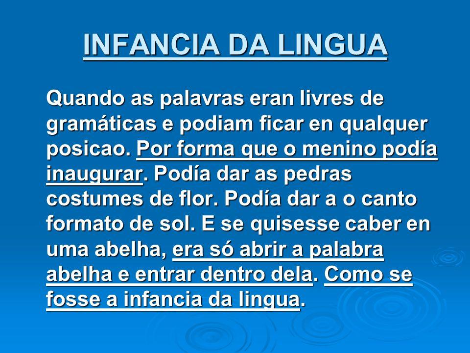 INFANCIA DA LINGUA