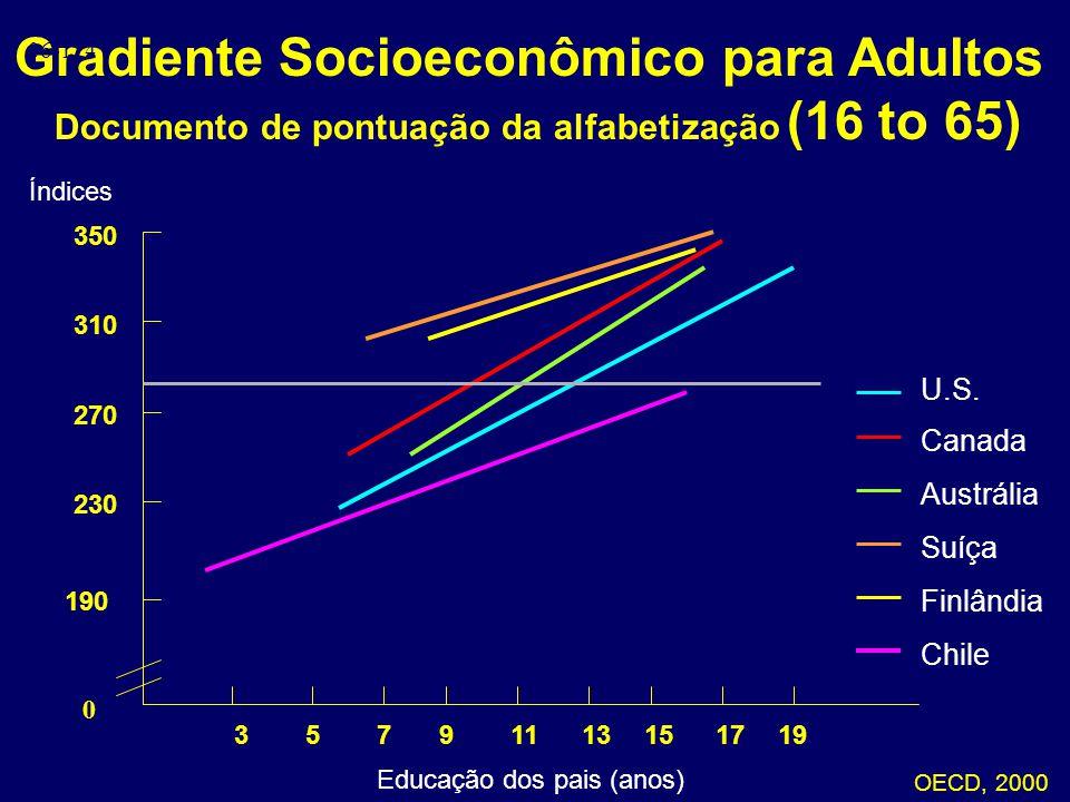 Gradiente Socioeconômico para Adultos