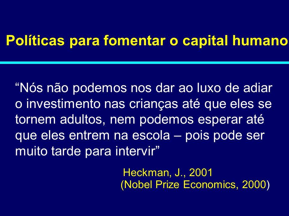 Políticas para fomentar o capital humano