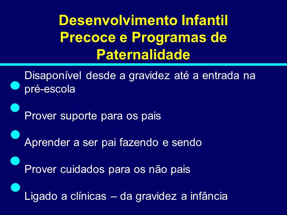 Desenvolvimento Infantil Precoce e Programas de Paternalidade