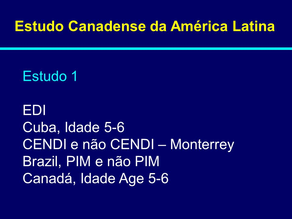 Estudo Canadense da América Latina