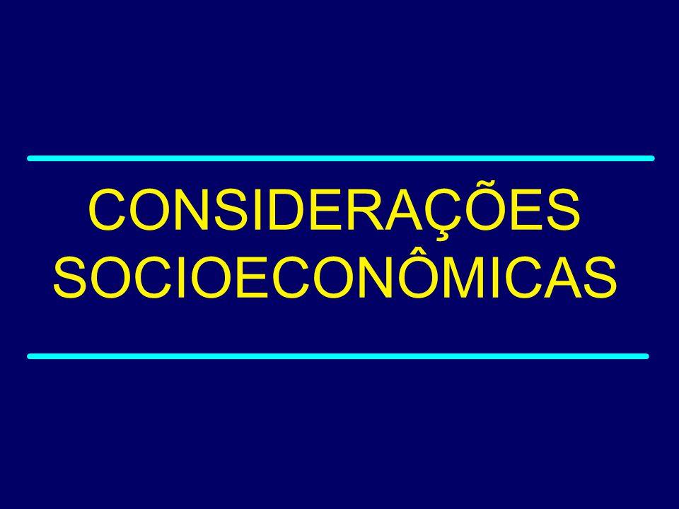 CONSIDERAÇÕES SOCIOECONÔMICAS