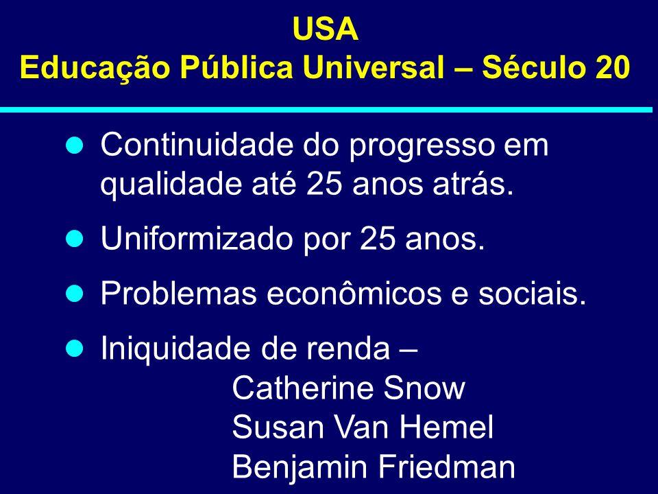 Educação Pública Universal – Século 20
