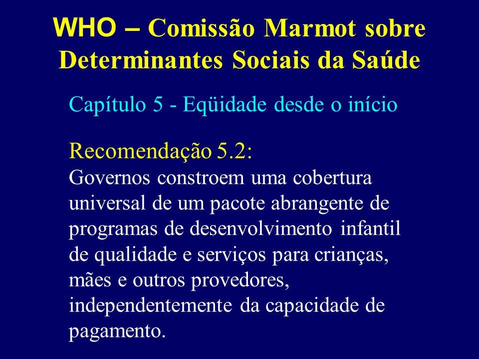 WHO – Comissão Marmot sobre Determinantes Sociais da Saúde