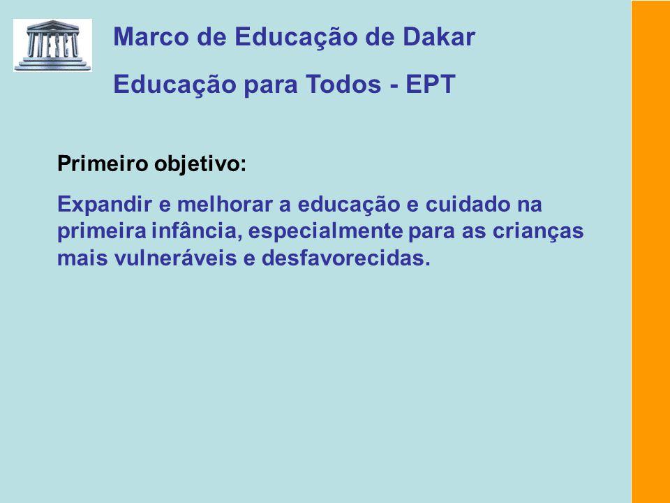 Marco de Educação de Dakar Educação para Todos - EPT
