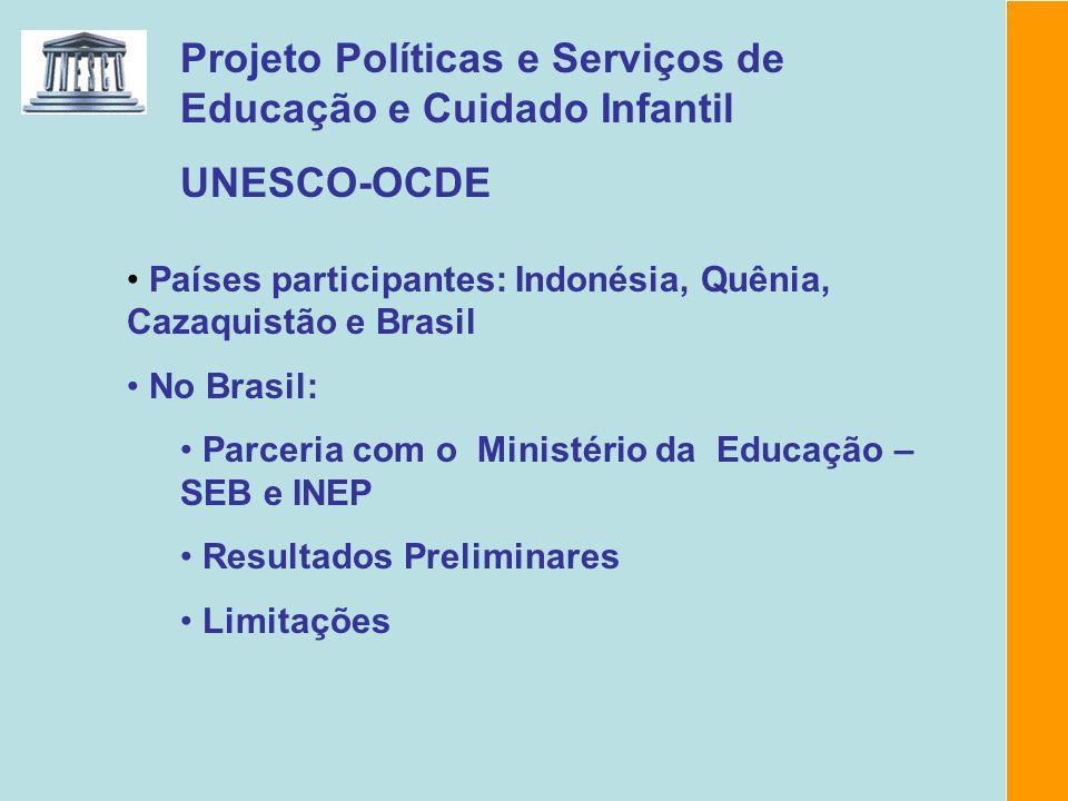 Projeto Políticas e Serviços de Educação e Cuidado Infantil