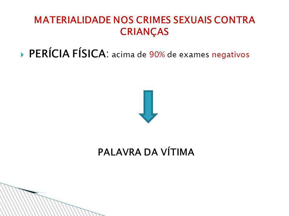MATERIALIDADE NOS CRIMES SEXUAIS CONTRA CRIANÇAS