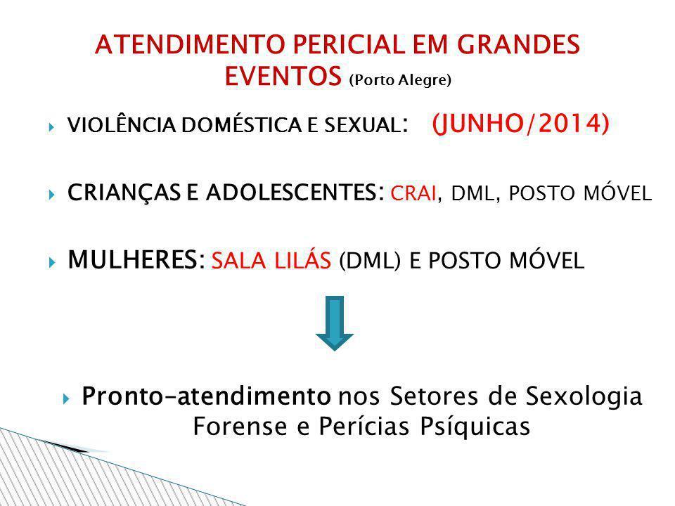 ATENDIMENTO PERICIAL EM GRANDES EVENTOS (Porto Alegre)