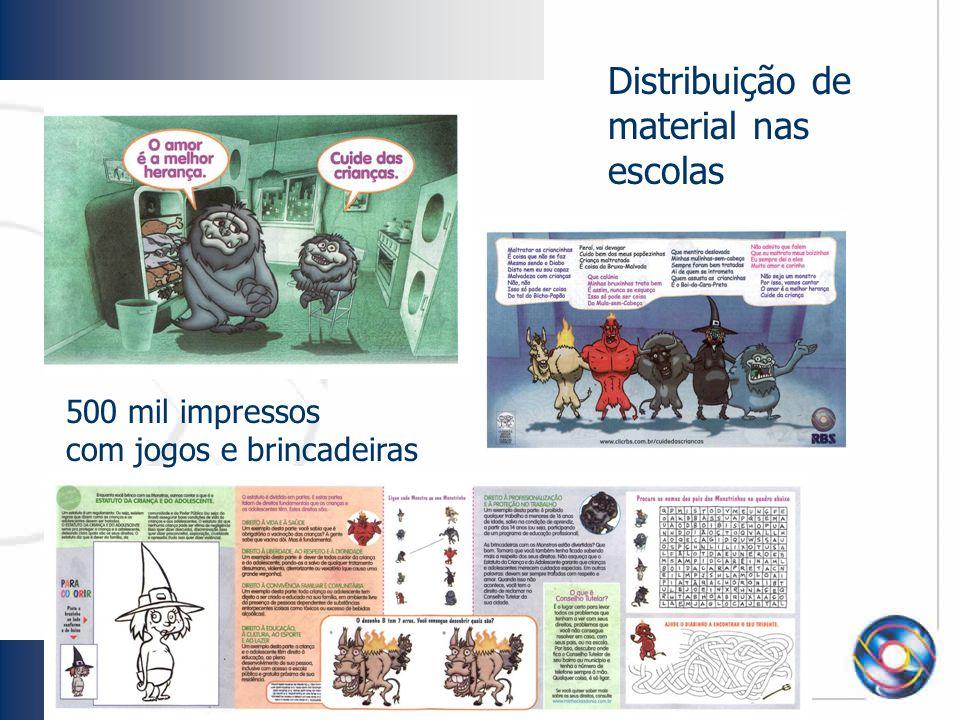 Distribuição de material nas escolas