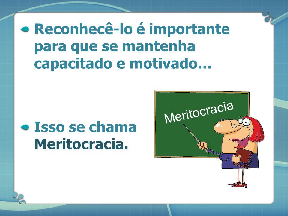Reconhecê-lo é importante para que se mantenha capacitado e motivado…