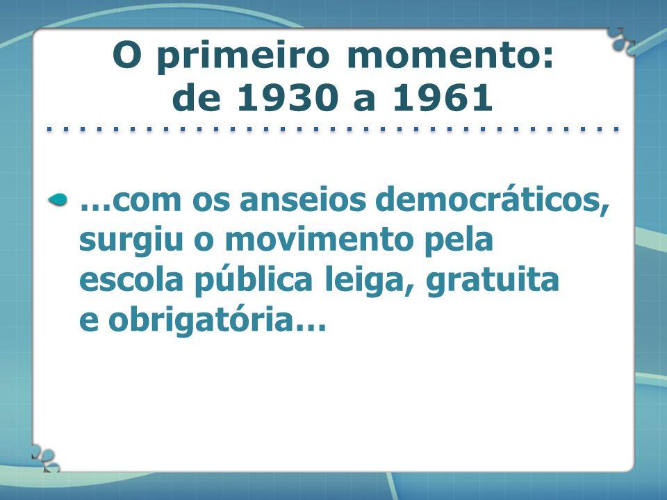 O primeiro momento: de 1930 a 1961