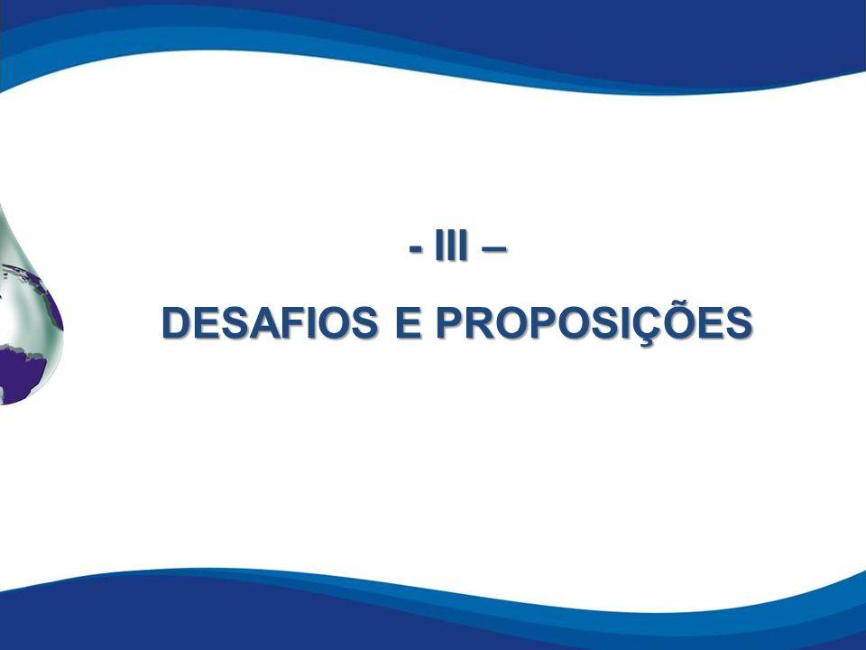 - III – DESAFIOS E PROPOSIÇÕES