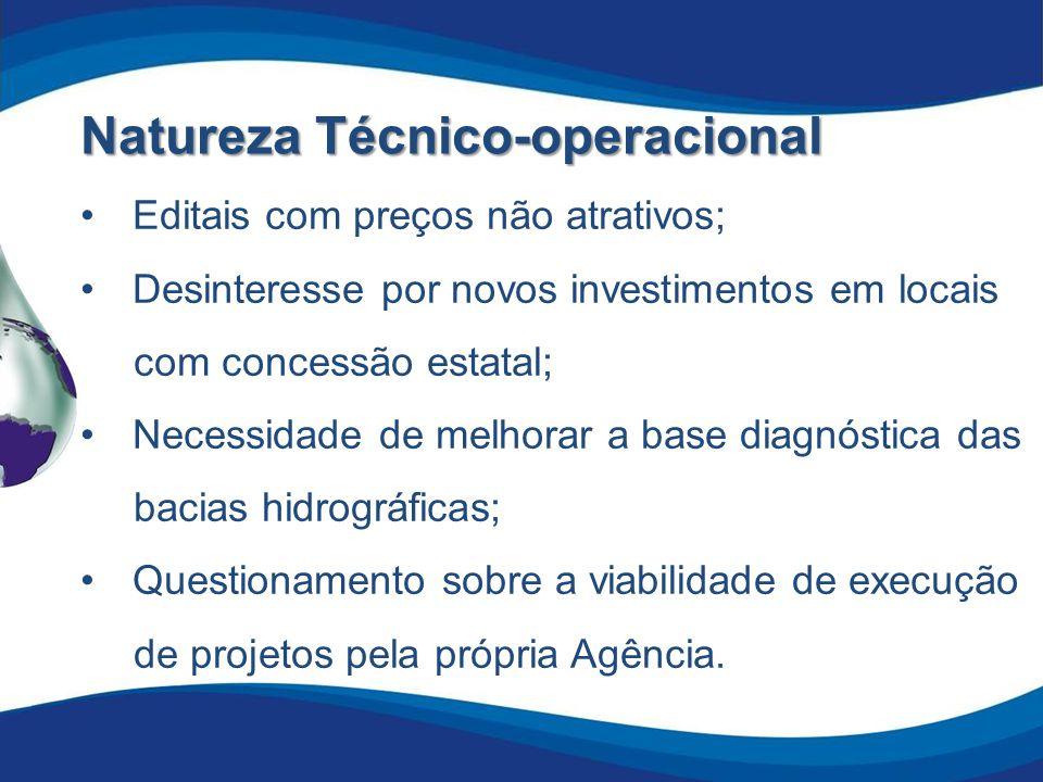 Natureza Técnico-operacional