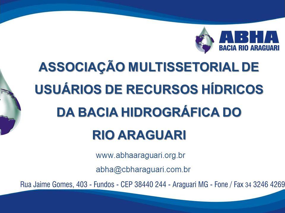 ASSOCIAÇÃO MULTISSETORIAL DE USUÁRIOS DE RECURSOS HÍDRICOS