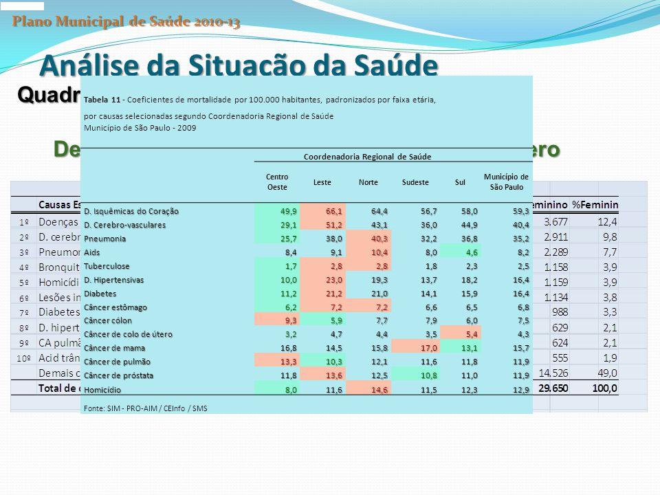 Plano Municipal de Saúde 2010-13 Coordenadoria Regional de Saúde
