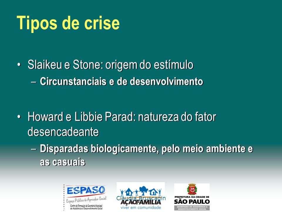 Tipos de crise Slaikeu e Stone: origem do estímulo