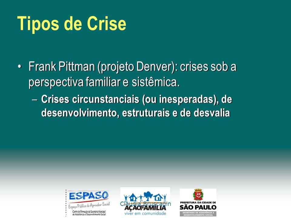 Tipos de Crise Frank Pittman (projeto Denver): crises sob a perspectiva familiar e sistêmica.