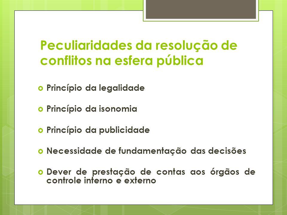 Peculiaridades da resolução de conflitos na esfera pública