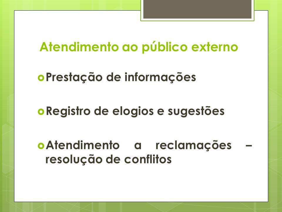 Atendimento ao público externo