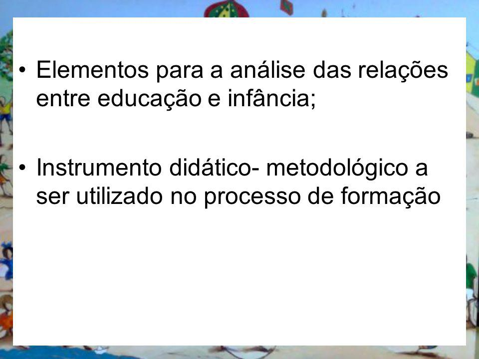Elementos para a análise das relações entre educação e infância;
