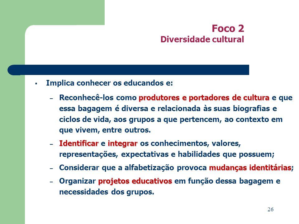 Foco 2 Diversidade cultural
