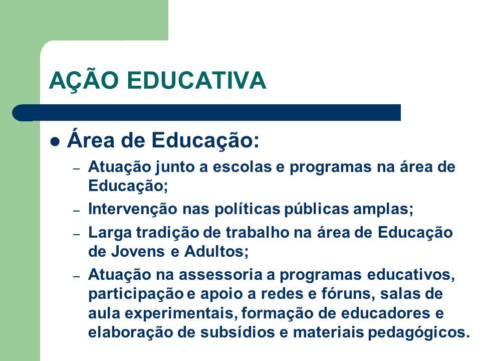 AÇÃO EDUCATIVA Área de Educação:
