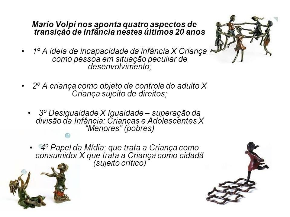 Mario Volpi nos aponta quatro aspectos de transição de Infância nestes últimos 20 anos