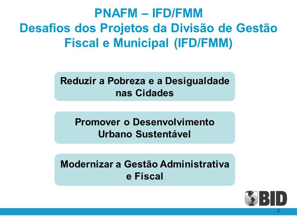 PNAFM – IFD/FMM Desafios dos Projetos da Divisão de Gestão Fiscal e Municipal (IFD/FMM)