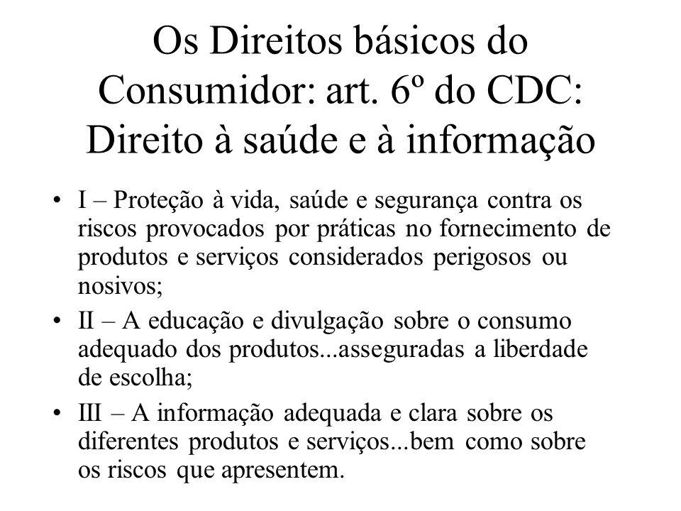 Os Direitos básicos do Consumidor: art