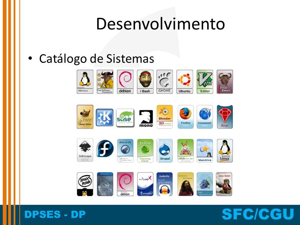 Desenvolvimento Catálogo de Sistemas
