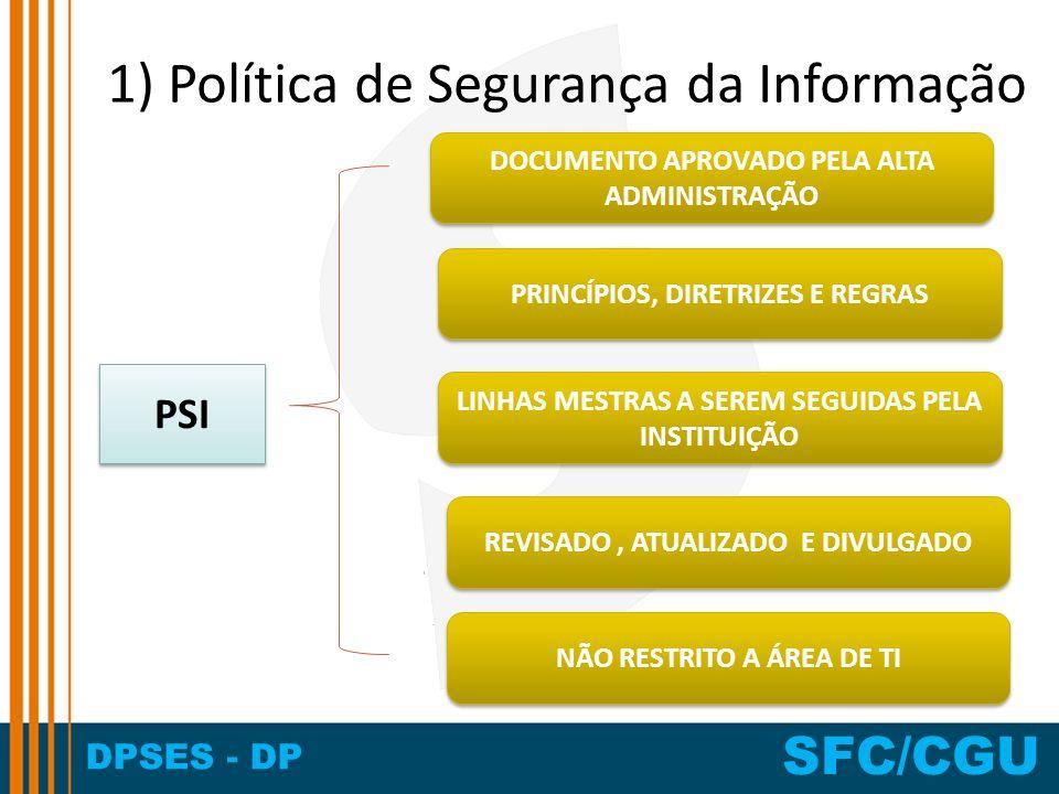 1) Política de Segurança da Informação
