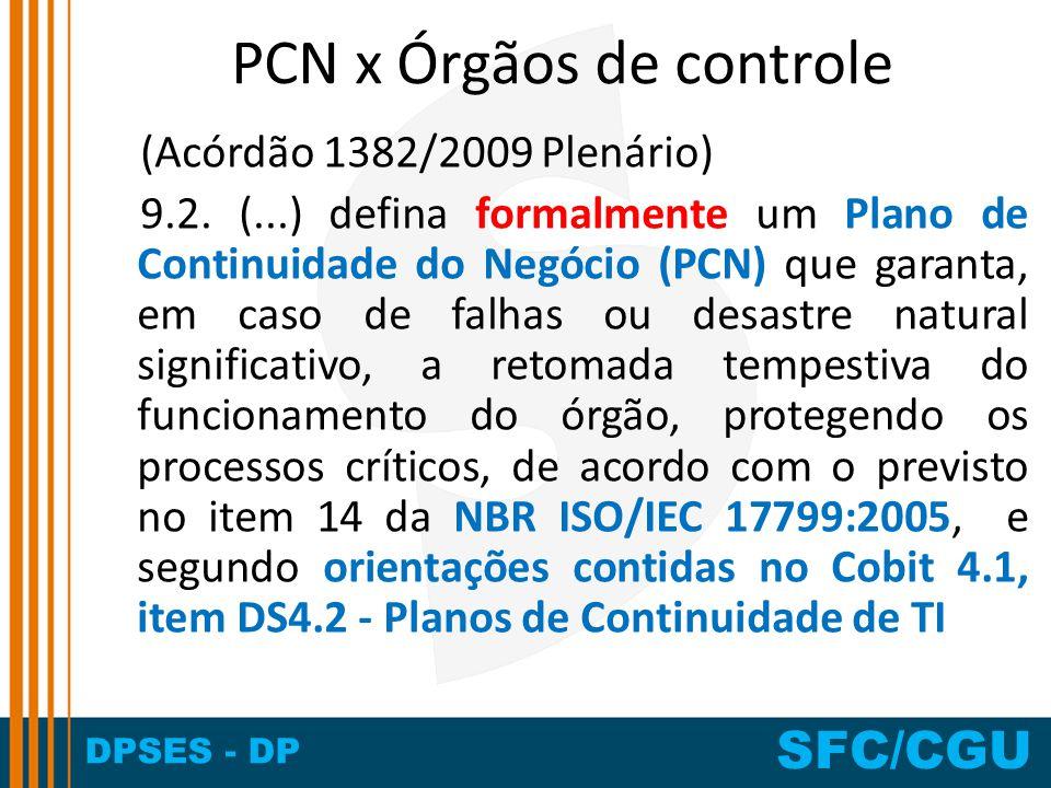 PCN x Órgãos de controle