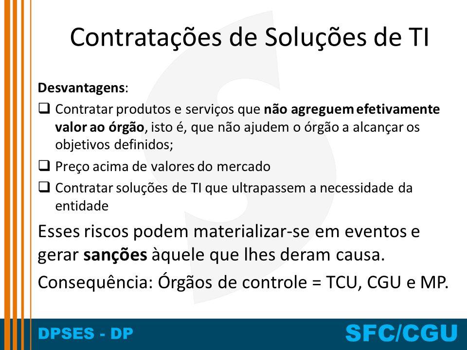 Contratações de Soluções de TI