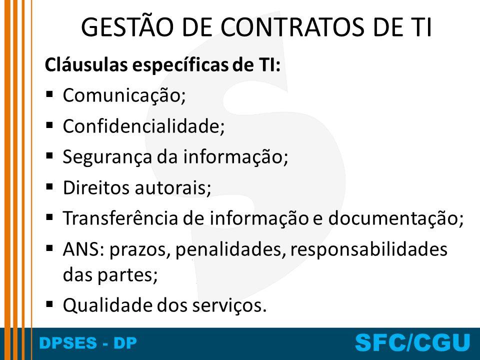 GESTÃO DE CONTRATOS DE TI