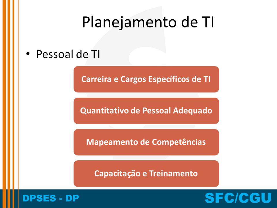 Planejamento de TI Pessoal de TI Carreira e Cargos Específicos de TI
