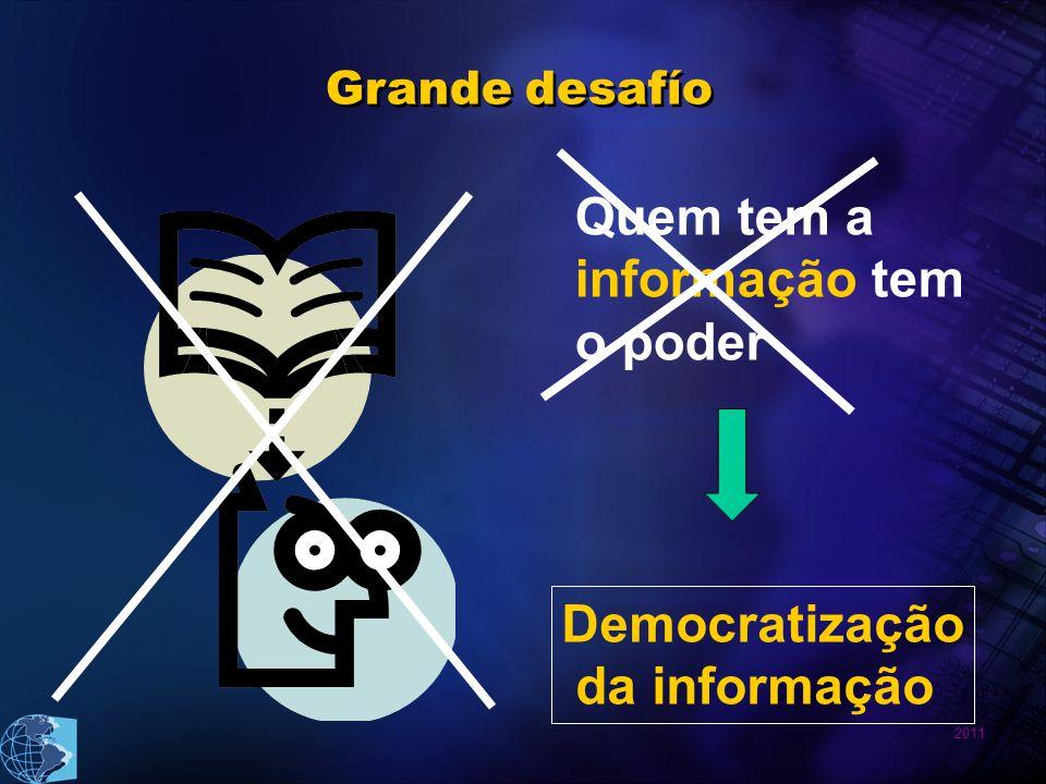 Quem tem a informação tem o poder Democratização da informação